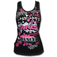 Mad Ally Hot Pink Graffiti Singlet