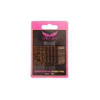 Mad Ally Super Stong Bobby Pins Colour; Brown